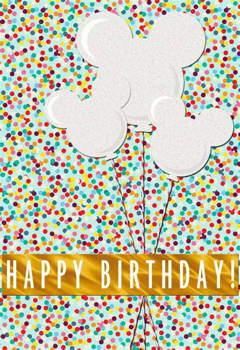 mickey mouse balloons birthday card greeting cards