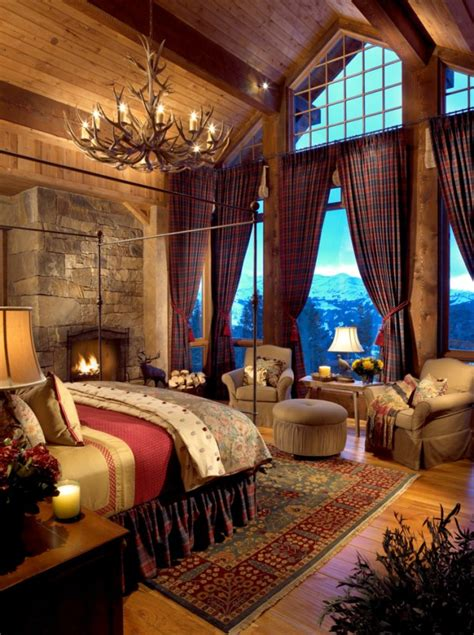 cozy rustic bedroom interior designs   winter
