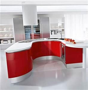 Meuble Cuisine Rouge Laqué : cuisine rouge laque ~ Teatrodelosmanantiales.com Idées de Décoration
