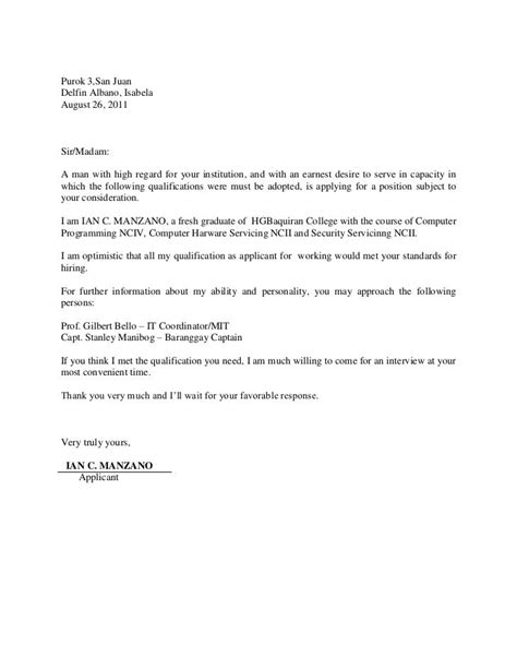Sle Cover Letter Information Technology by Information Technology Cover Letters For Resumes Exles