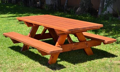 Round Picnic Table With Attached Benches by 24 Picnic Table Designs Plans And Ideas