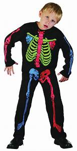Childrens Nu Rave Neon Skeleton Halloween Fancy Dress Costume Boy or Girl | eBay