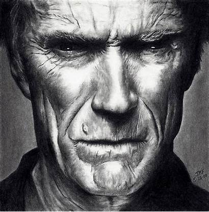 Clint Eastwood Illustrations Artwork Scans Faces Wallpapers