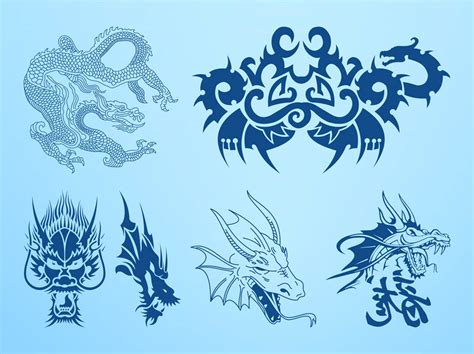 clipart vectors dragons vector graphics