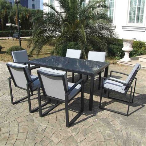 gazebo penguin 7 piece outdoor dining set atg stores
