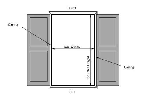 measure  exterior wooden shutters