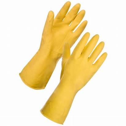 Gloves Yellow Latex Household Gasfm