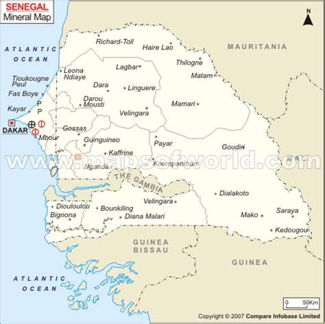 senegal mineral map natural resources  senegal