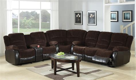 johanna dark brown corduroy reclining sectional sofa