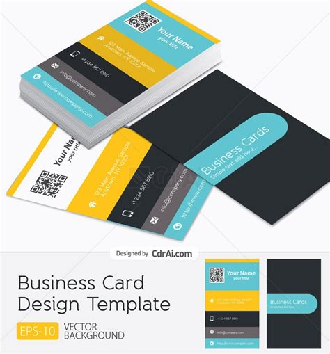 business card design vector  eps cdr ai file