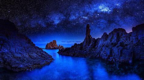 night sea  stars hd wallpaper wallpaper studio