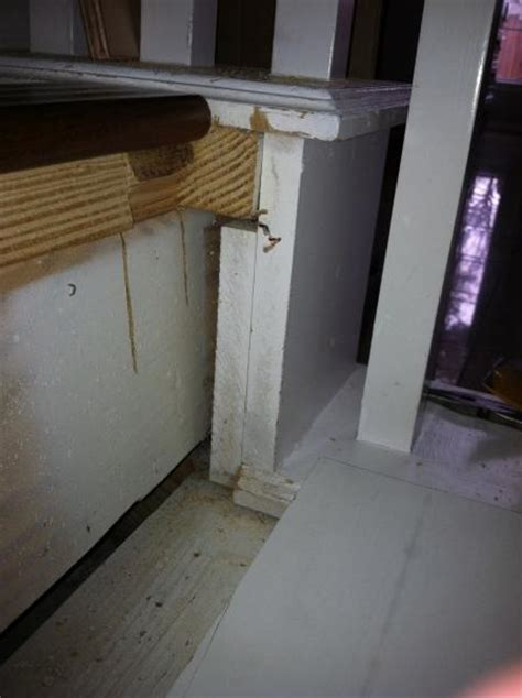 Gaps in stair skirting when replacing carpeted stairs with