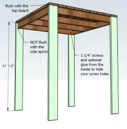 High Top Patio Table Plans by Ana White Outdoor Modern Bar Table X Base Diy Projects