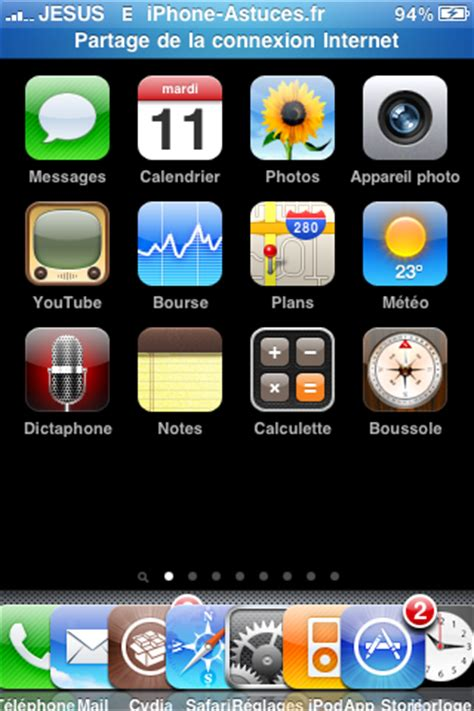 comment mettre 5 icone sur iphone