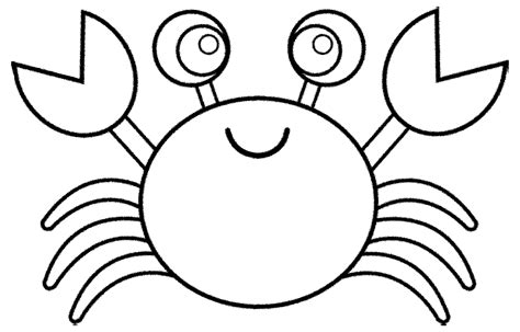 mewarnai gambar kepiting lucu anak paud tk