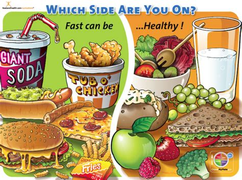 side    healthy food poster