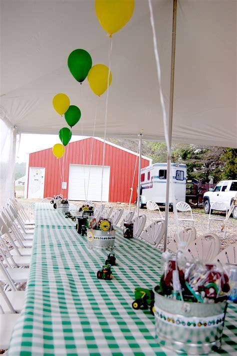 John Deere Birthday Partyfamily Style Dining Kids