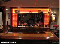 EHBP11 Illuminated Bar Back Design Easy Home Bar Plans