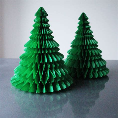 tissue paper christmas tree decoration by pearl and earl notonthehighstreet com