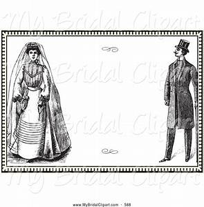 Bridal Clipart of a Vintage Wedding Invitation Design with ...