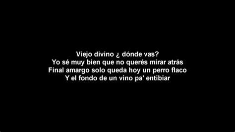Letra EL VIEJO de La Vela Puerca YouTube