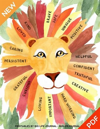 Self Esteem Poster Confidence Lion Pdf Motivational