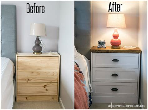 Ikea Nightstand Makeover by Ikea Rast Two Toned Nightstand Makeover Infarrantly Creative
