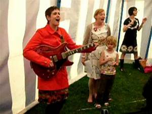 Amelia and Eithne (Talulah Gosh) play some songs at ...