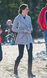 Kate Middleton Wears Sentaler Coat During Last Day In Yukon