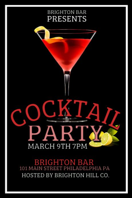 copy  cocktail party postermywall