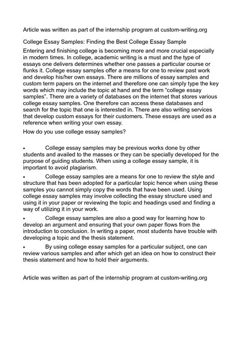 writing a good college application essay camelotarticles com resume sample doc