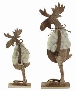 Weihnachtsfiguren Aus Holz : deko elch wolle holz stehend 32 cm ~ Eleganceandgraceweddings.com Haus und Dekorationen