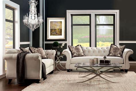 antoinette beige premium fabric living room set