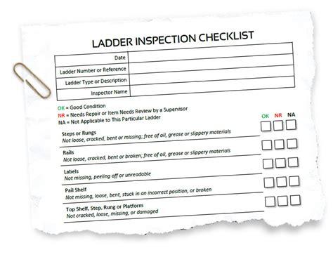 Osha Ladder Inspection Checklist - Stlfamilylife