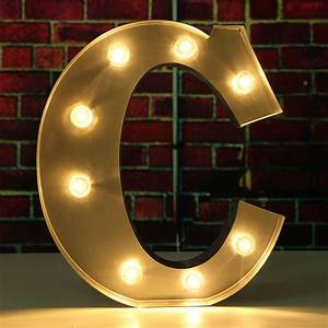 93939 metal led marquee letter alphabet light a to m vintage With initial letter lights
