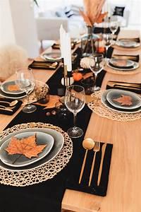 herbstliche tischdeko thanksgiving mit fork you