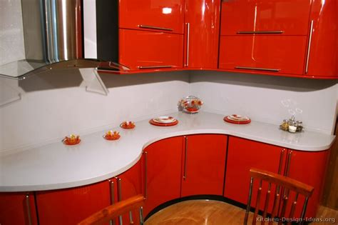 pictures  kitchens modern red kitchen cabinets