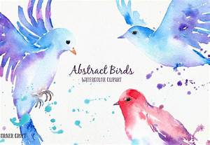 Watercolor Abstract Flying Bird by Cornercroft ...