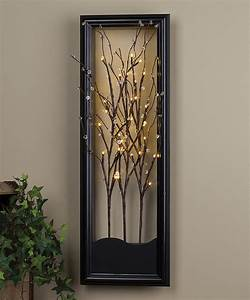 Clear led willow branch wall art light and glow
