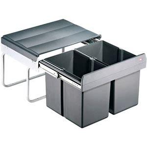 poubelle cuisine ouverture automatique poubelles sous évier coulissantes bricotoo
