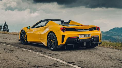 This car has automatic transmission 8 cylinder engine 19 wheels and black interior. Trends For Ferrari 488 Pista Spider Yellow - NikiCars