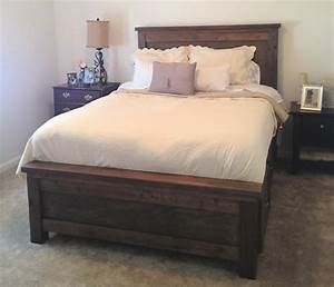 Ana White Farmhouse Storage Bed Queen DIY Projects