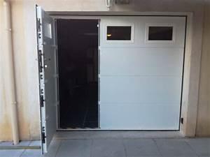 Porte De Garage Motorisée Somfy : installation d 39 une porte de garage sectionnelle motoris e ~ Edinachiropracticcenter.com Idées de Décoration