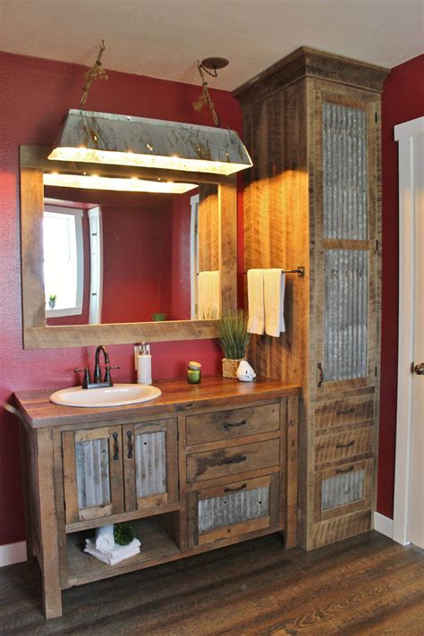 rustic bathroom vanity ideas  designs