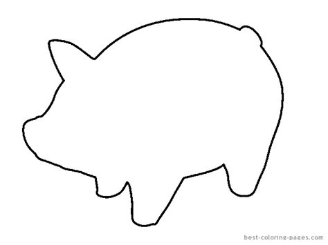 pig template best photos of printable pig template pigs coloring page template simple pig coloring pages