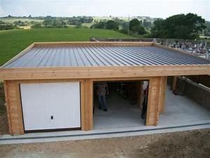 comment construire garage toit plat With construire garage bois toit plat