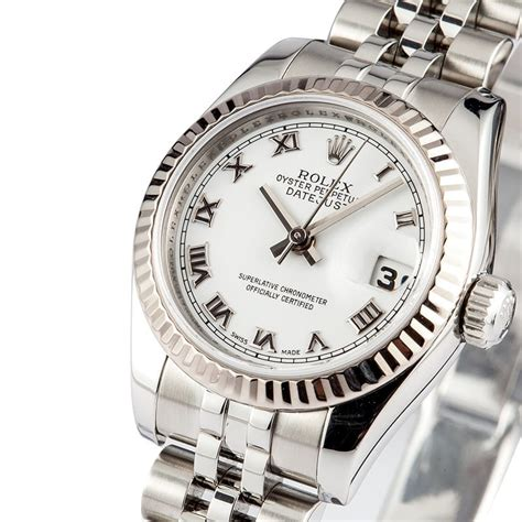 Rolex Ladies DateJust Oyster Perpetual with White Dial