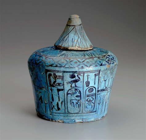 ritual vessel nemset jar  lid museum  fine arts