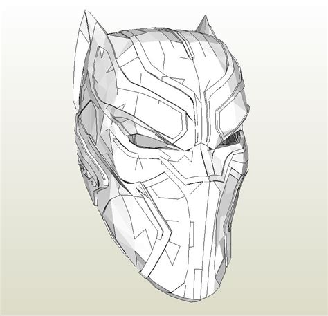 black panther mask template foamcraft pdo file template for black panther civil war helmet foam