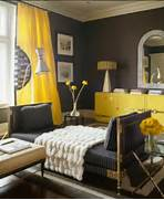 Black Color House Unusual Interior Black And Yellow Color Mix Bold Color Combination